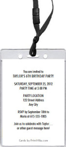 Animal Lover Birthday Party VIP Pass Invitation Back
