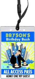 At Da Club Birthday Party VIP Pass Invitation