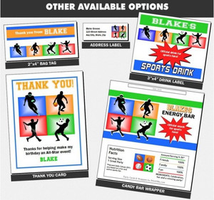 All Star Sports Birthday Party Favors