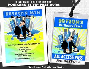 At Da Club Birthday Party Ticket Invitation Other Styles