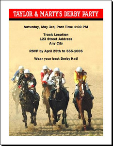 Kentucky Derby The Race Is On Party Invitation