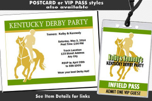 Kentucky Derby Party Ticket Invitation Other Styles