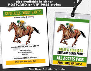 Kentucky Derby Party Design 2 Ticket Invitation Other Styles
