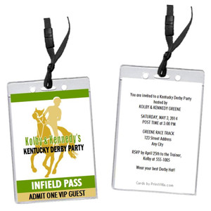 Kentucky Derby Party VIP Pass Invitation