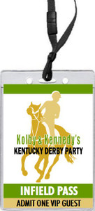 Kentucky Derby Party VIP Pass Invitation Front