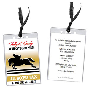 Kentucky Derby Equestrian Party VIP Pass Invitation