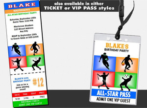 All Star Sports Birthday Party Invitation Other Styles