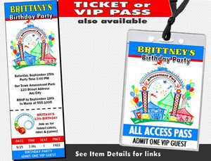 Amusement Park Birthday Party Invitation Other Styles