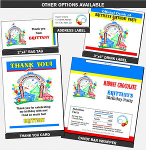 Amusement Park Birthday Party Invitation Favors