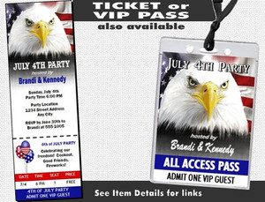 American Eagle 4th of July Party Invitation Other Styles