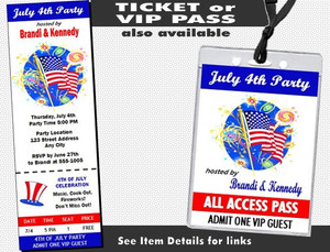 American Flag 4th of July Party Invitation Other Styles
