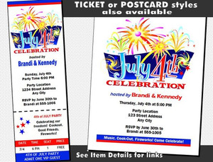 4th of July Celebration VIP Pass Invitation Other Styles