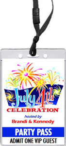 4th of July Celebration VIP Pass Invitation Front