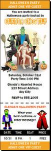 Costume Party Halloween Ticket Invitation