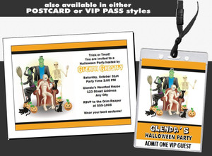 Costume Party Halloween Ticket Invitation Other Styles