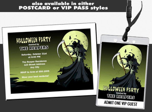 Grim Reaper Halloween Party Ticket Invitation Other Styles