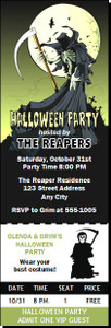 Grim Reaper Halloween Party Ticket Invitation
