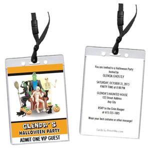 Costume Party Halloween VIP Pass Invitation