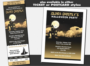 Haunted House Halloween Party VIP Pass Invitation Oher Styles