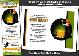 Witch's Brew Halloween Party VIP Pass Invitation Other Styles