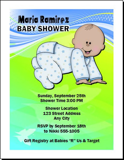 Bebe Muchacho Baby Shower Invitation