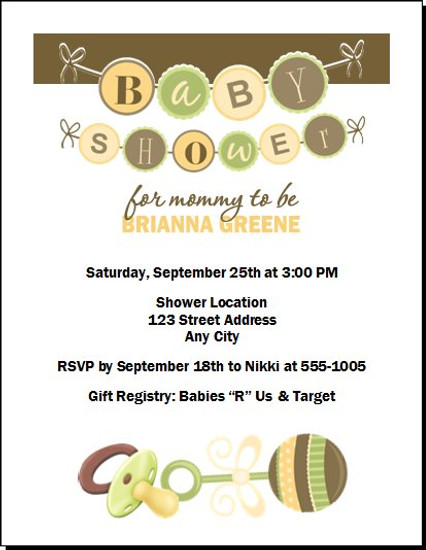 It's A Baby Shower Invitation
