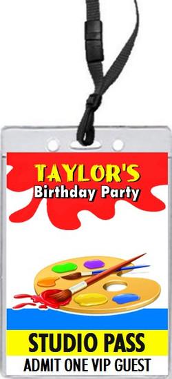 Artist Birthday Party VIP Pass Invitation