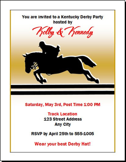 Kentucky Derby Equestrian Party Invitation