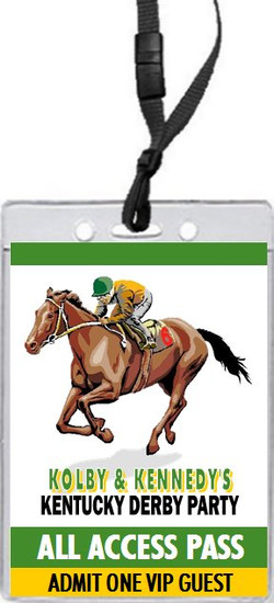 Kentucky Derby Party VIP Pass Invitation Design 2 Front