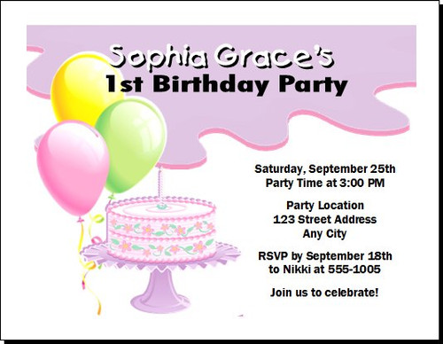 Birthday Girl Birthday Party Invitation