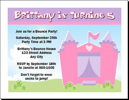 Bounce House Birthday Party Invitation