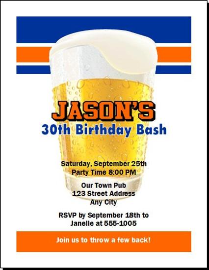 Free Beer Birthday Party Invitation