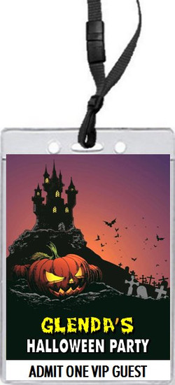 Haunted House Design 2 Halloween Party VIP Pass Invitation Front
