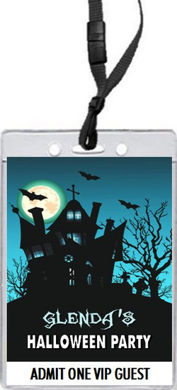 Haunted House Halloween Party VIP Pass Invitation Front
