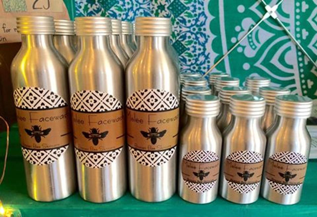 Regular and mini size Melee bottles