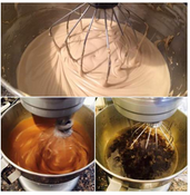 The three stages of making SHU. Bottom right is what it looks like in the beginning and follow around to the top photo where what you get is a creamy blend packed with nutrative oils that conquer almost everything.