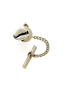 "The original ""Cool Beans"" coffee bean jewelry tie tack, cast in solid pewter, for the man who doesn't mind a little coffee on his tie! ""Cool Beans"" is a registered federal trademark. Design patent applied for."