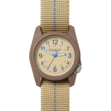 This Bertucci DX3 Plus Watch features unmatched performance and value. With classic Bertucci styling and a rugged design, this affordable field watch has a  poly resin and fiber body with a stainless steel crown and back, artistically sculpted and water resistant to 150 feet.  Beautifully designed in the heart of Chicago, every Bertucci watch is perfect for any occasion whether it's a hunting trip in the Northwoods or an elegant dinner engagement. Khaki dial with blue numerals, khaki band with blue striping. Three year warranty. #11080