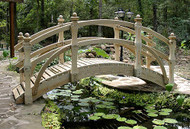 10' High-Rise Double Rail Garden Bridge