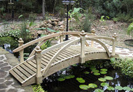 8' High Rail Garden Bridge