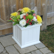 "Mayne Cape Cod Square Patio Planter 14"" x 14"""
