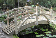 18' Double Rail Garden Bridge