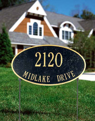 2-Sided Oval Address Sign