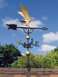 "46"" Eagle Weathervane - Gold-Bronze"