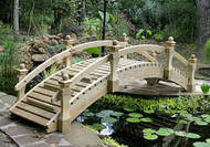 8' High-Rise Low Rail Garden Bridge