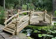 8' High-Rise Low Rail Garden Bridge
