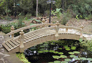8' Low Rail Garden Bridge