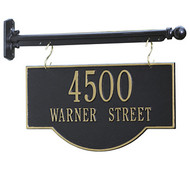 Address Plaque Hanging Bar (Flat Mount)