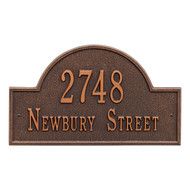 Arch Address Plaque 16L x 9H ( 2 Lines)