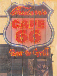 Cafe' 66 Wall Art